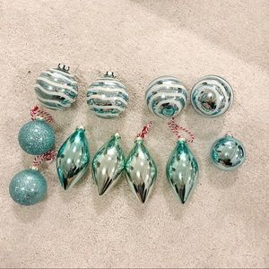 Holiday - Blue Christmas ornament lot!